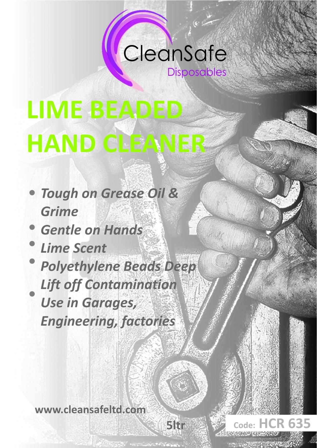 Lime Beaded Hand Cleaner (5ltr)