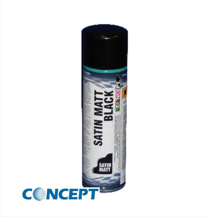 Concept Satin Matt Black Paint (450ml)