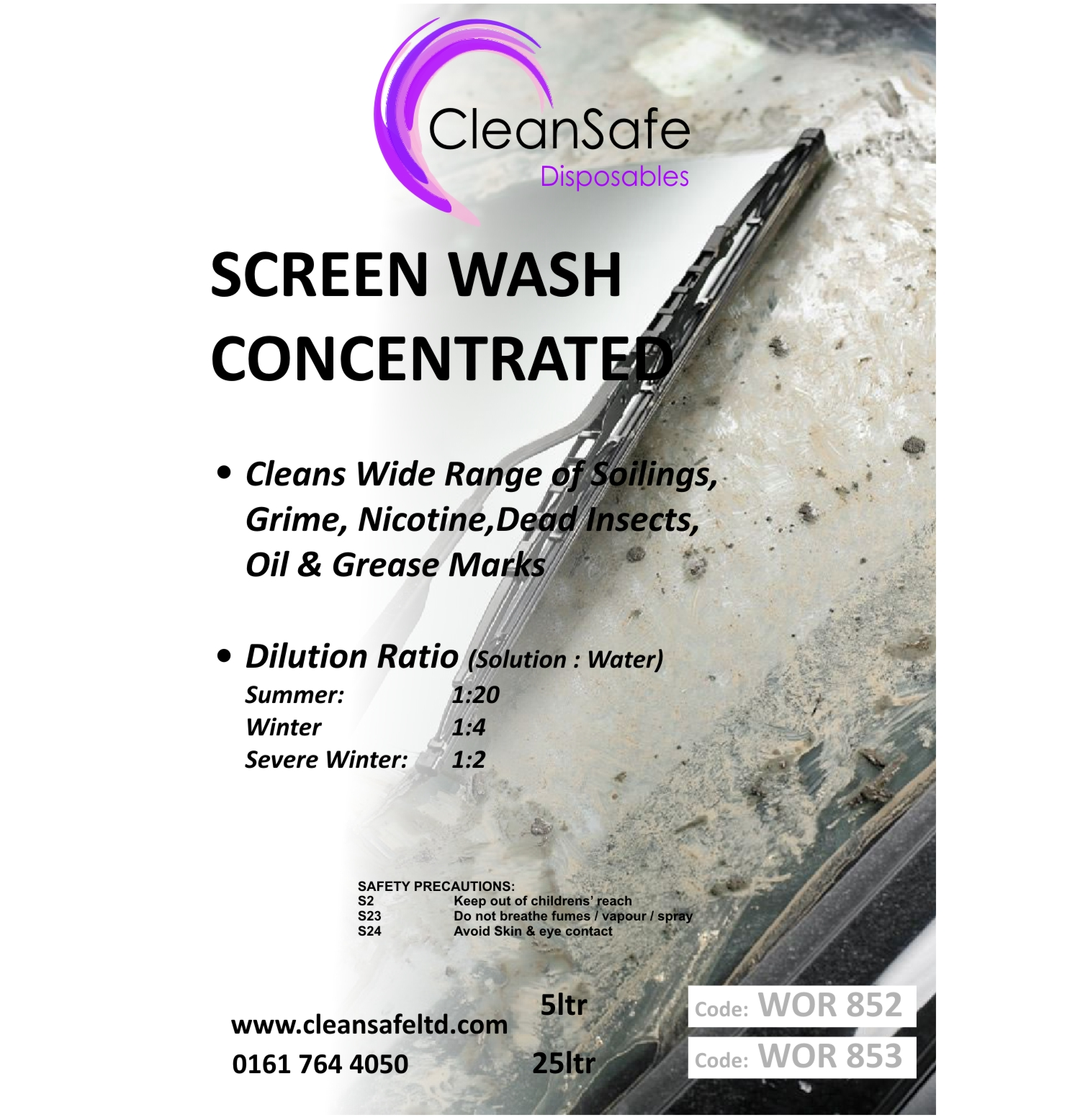 Concentrated Screen Wash (5ltr)